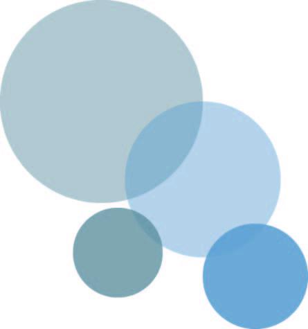 runde halbtransparente Kreise in unterschiedlichen Blautöntn